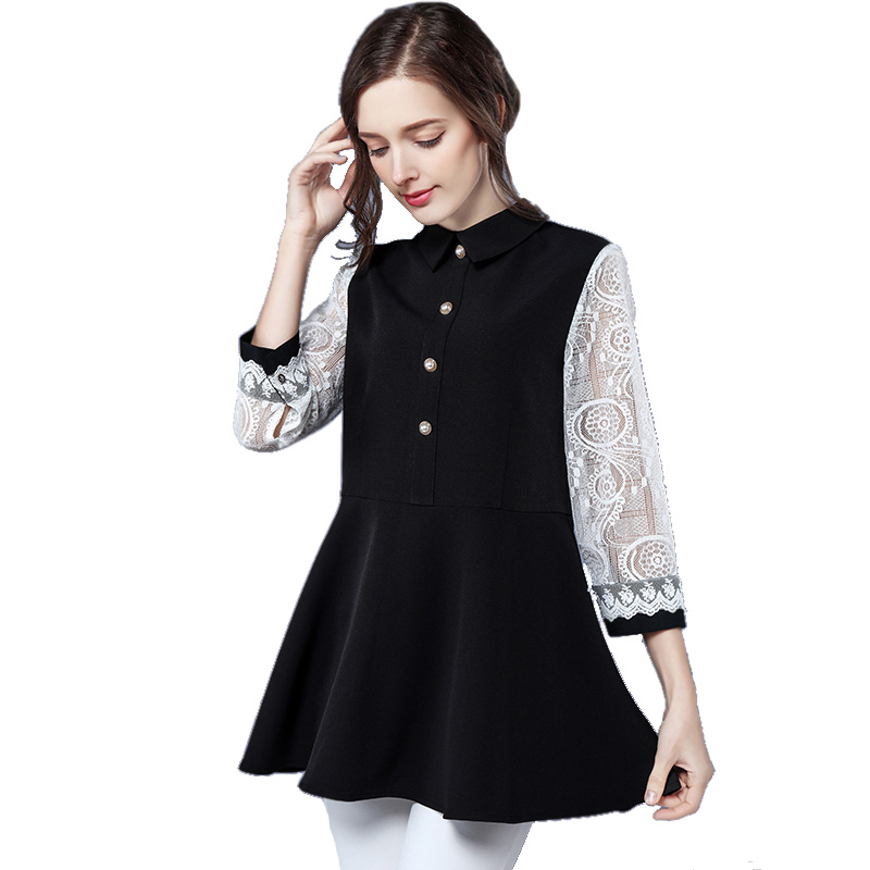 2018 spring new hot solid color long sleeve shirts Plus Size shirt chiffon blouse shirt women's casual loose blouses L 4XL 5XL