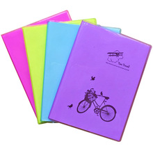 Creative stationery fluorescent color rubber sleeve notebook Notepad time travel diary small book Wholesale