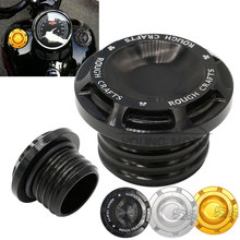 New Billet Aluminum Motorcycle Fuel Gas Oil Tank Cap Cover Guard Black Gold Silver For Harley