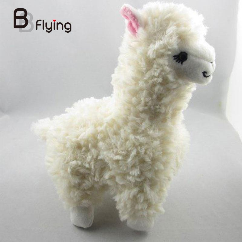 23cm Alpaca Llama Plush Toy Japan Animal Stuffed Animal Birthday Dolls For Kids stuffed animal 44 cm plush standing cow toy simulation dairy cattle doll great gift w501