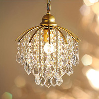 Phube Lighting Retro Crystal Pendant Light Luxury Mini Pendant Light Ailse Pendant Light Lighting