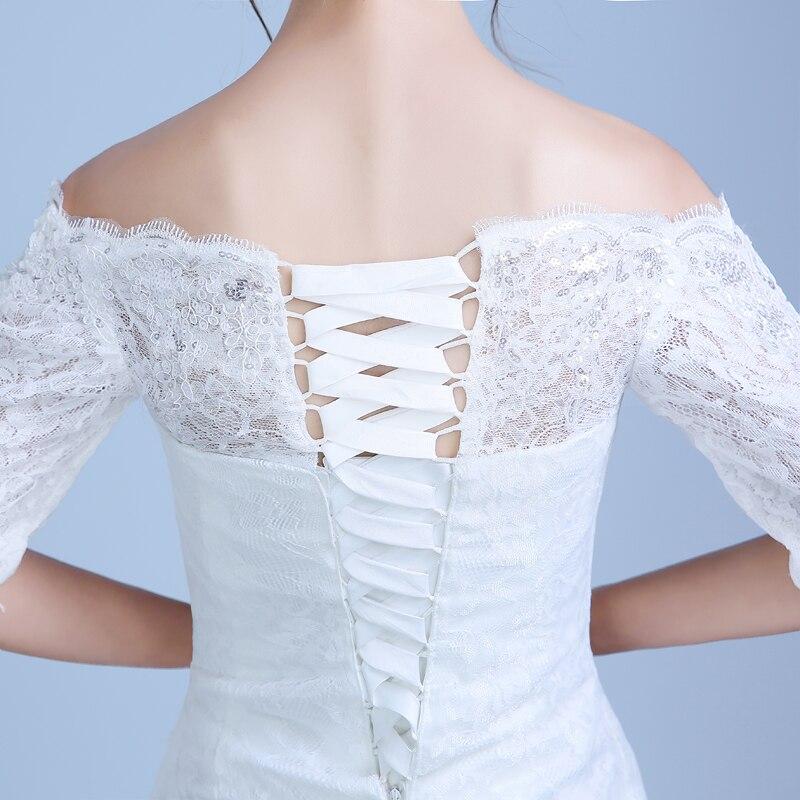 2017 nou culoare sosire albă Mermaid Lace rochie de - Rochii de mireasa - Fotografie 5