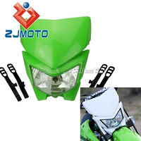 Universal Dirt Bike Motorcycle Headlamp Motocross Headlight Fairing For Kawasaki KLX450 KX KLR Dual Sport Headlight