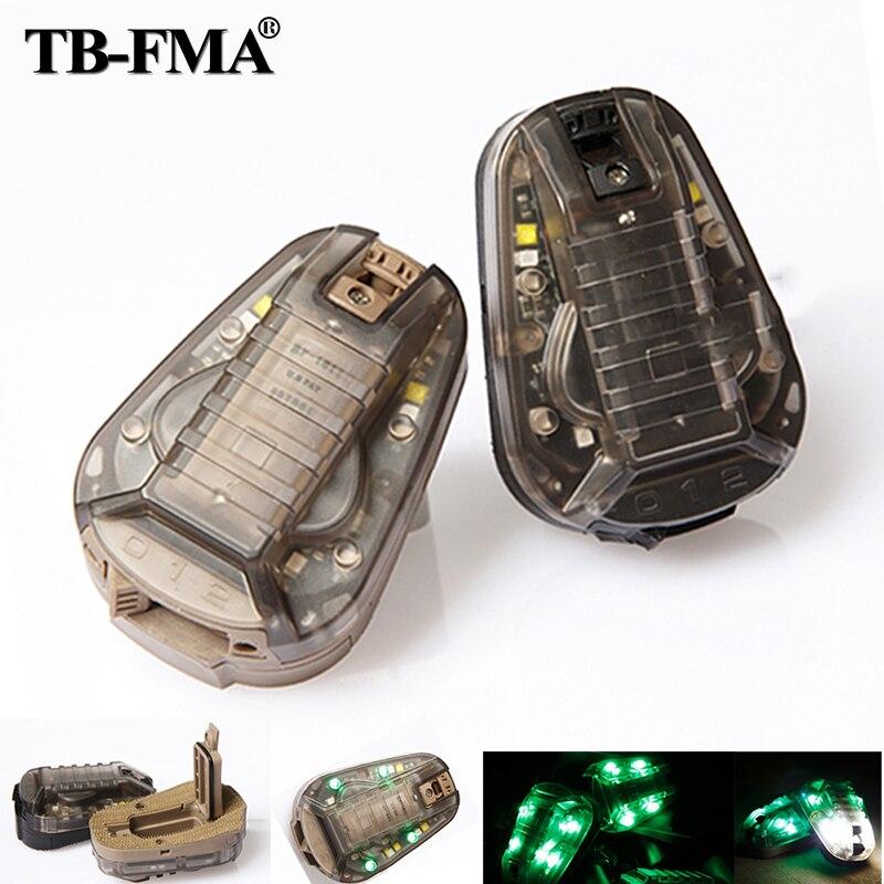 TB-FMA New Hunting Survival HEL-STAR6 GEN III Green Safety Flash Light Black / Desert TB1286 for Helmets & Molle Free Shipping fma hunting survival hel star6 gen iii green safety flash light bk de tb1286