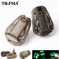 TB FMA New Hunting Survival HEL STAR6 GEN III Green Safety Flash Light Black / Desert TB1286 for Helmets & Molle Free Shipping
