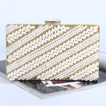 Hot Sale New European Pearl Diamond Evening Bag High-grade Wedding Party Bag Ladies Evening Party Small Clutch Bag Free Shipping