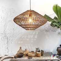 Thailand Vine Pendant Lights Fixture Retro Southeastern Pendant Lamps Rattan Hanging Lamp Tea Restaurant Home Indoor Lighting