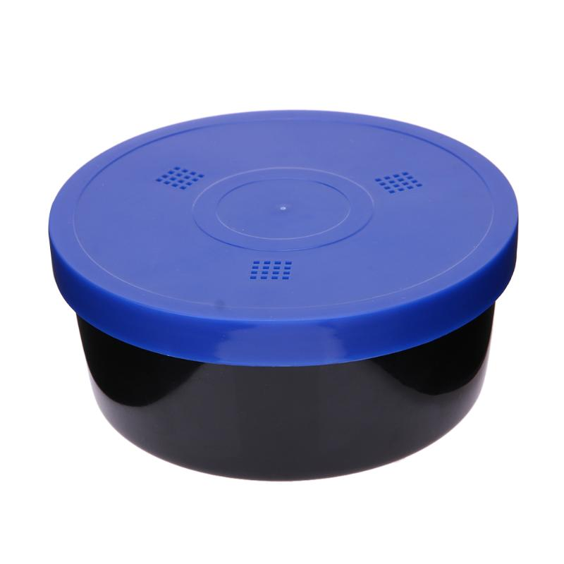 Multifunction Round Fishing Lure Box PP Earthworm Worm Lure Storage Case with Breather Holes Plastic Fishing Tackle Bait Box(China)