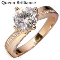 2 Carat Ct F Color Engagement Wedding Lab Grown Moissanite Diamond Ring For Women Solid 14K