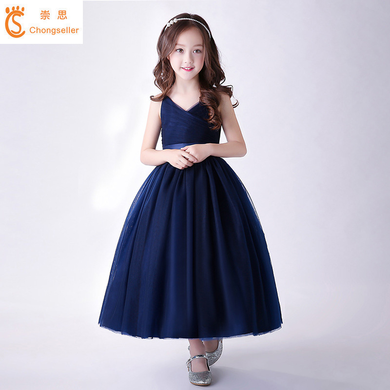 New Arrival Blue Wedding Party Dresses For Teenager Girls