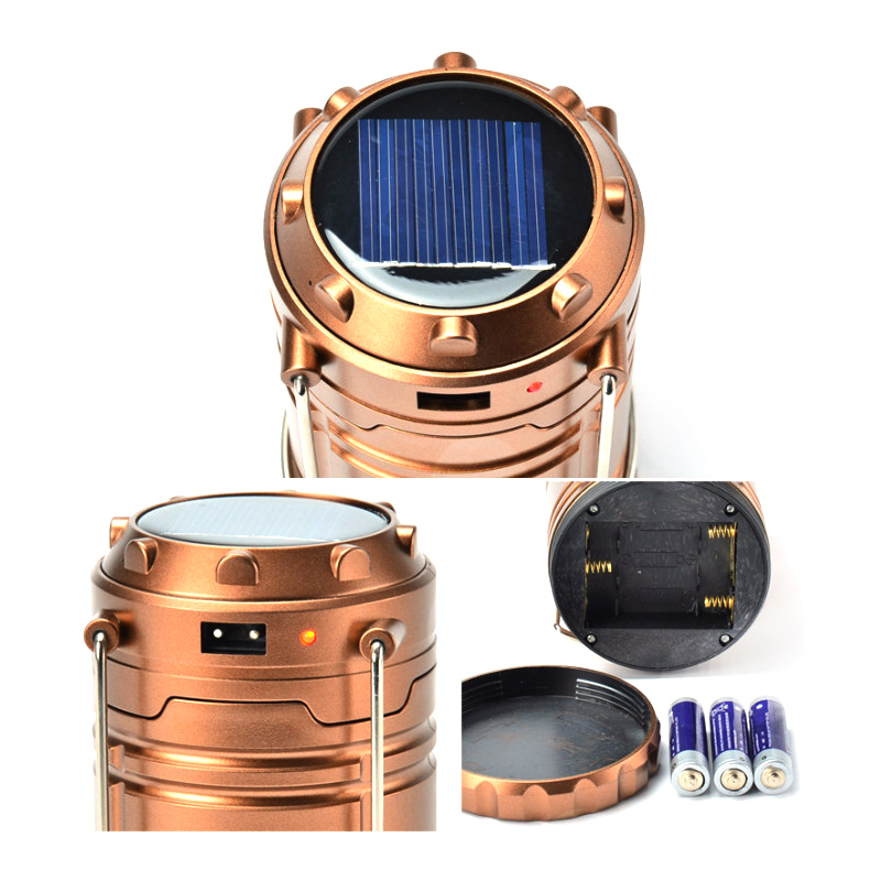 Solar power lamp Luminaire Portable Led Exterieur stretchable Lamps Collapsible Flashlight Lantern Hanging Lamp camping Light