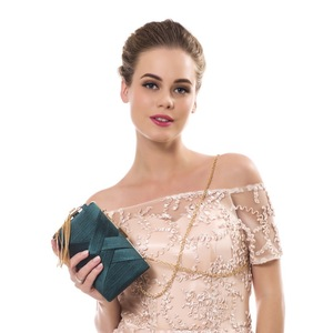 Image 5 - SEKUSA New Arrival Metal Tassel Lady Clutch Bag With Chain Shoulder Handbags Classical Style Small Purse Day Evening Clutch Bags