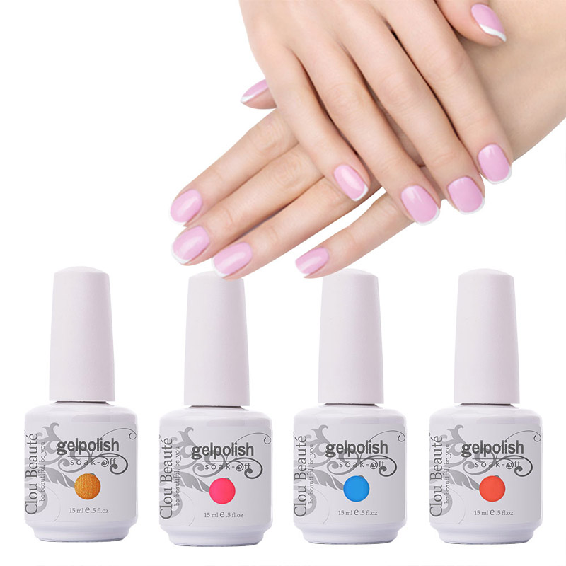 15ml Clou Beaute Kies uit 1 stuk UV Gel Nagelkits Lak Nagel Art Soak - Nagel kunst
