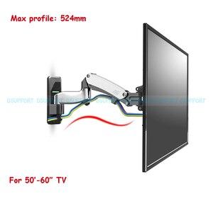 Image 2 - NB F500 sprężyna gazowa 50 60 cali telewizor LED uchwyt monitora ściennego ergonomiczny montaż ładowanie 14 23kg Max.VESA 400*400mm