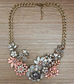New Fashion Jewelry Z Brand Vintage Rhinestone Flower Statement Necklace Crystal Choker Necklaces Pendants Clothes Accessories