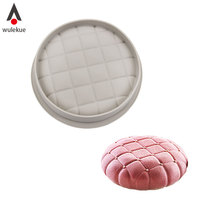 Wulekue 1PC Round Square Pillow Gray Cake Mold For Chocolate Brownie Dessert Mousse Baking Pan