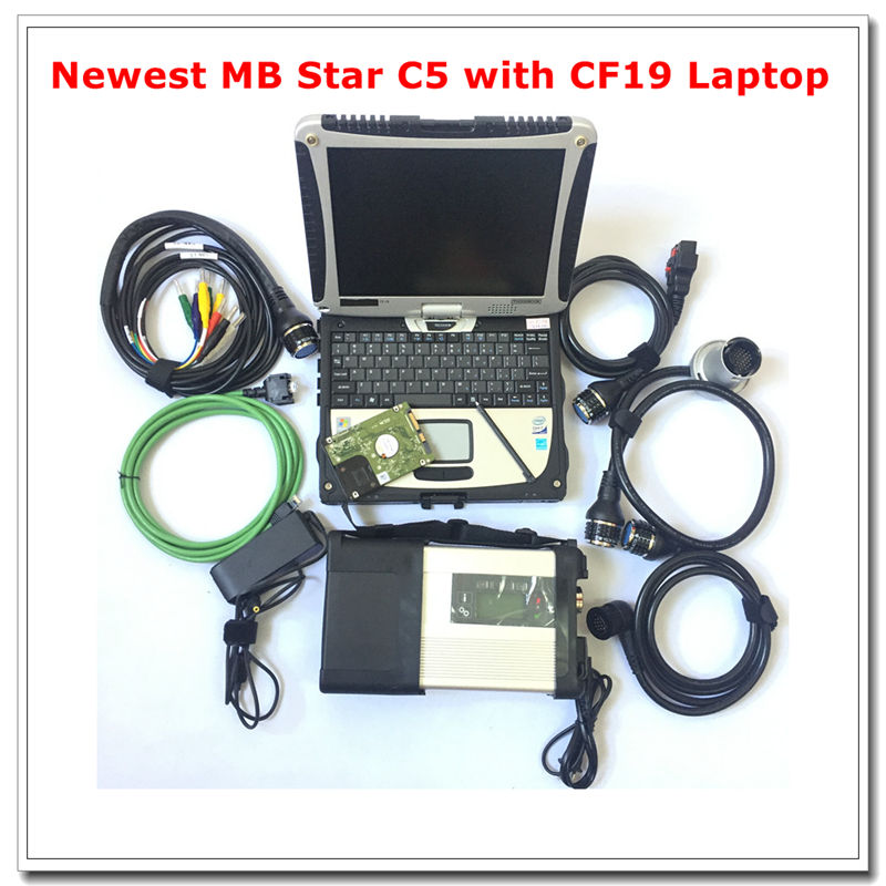MB Star C5 2019 SD Connect C5 with newest software 2019.05 diagnostic tool mb star c5 with CF19 Laptop Full set ready to work