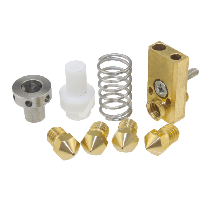 Ultimaker 2/2+/2 Extended Olsson block nozzle hotend kit 1.75/3mm for ultimaker match with E3D nozzle for DIY 3D printer aluminum v6 hot end mount kit 1 75 3mm for ultimaker original ultimaker 2 um 2 extended 3d printer nozzle extrusion kit