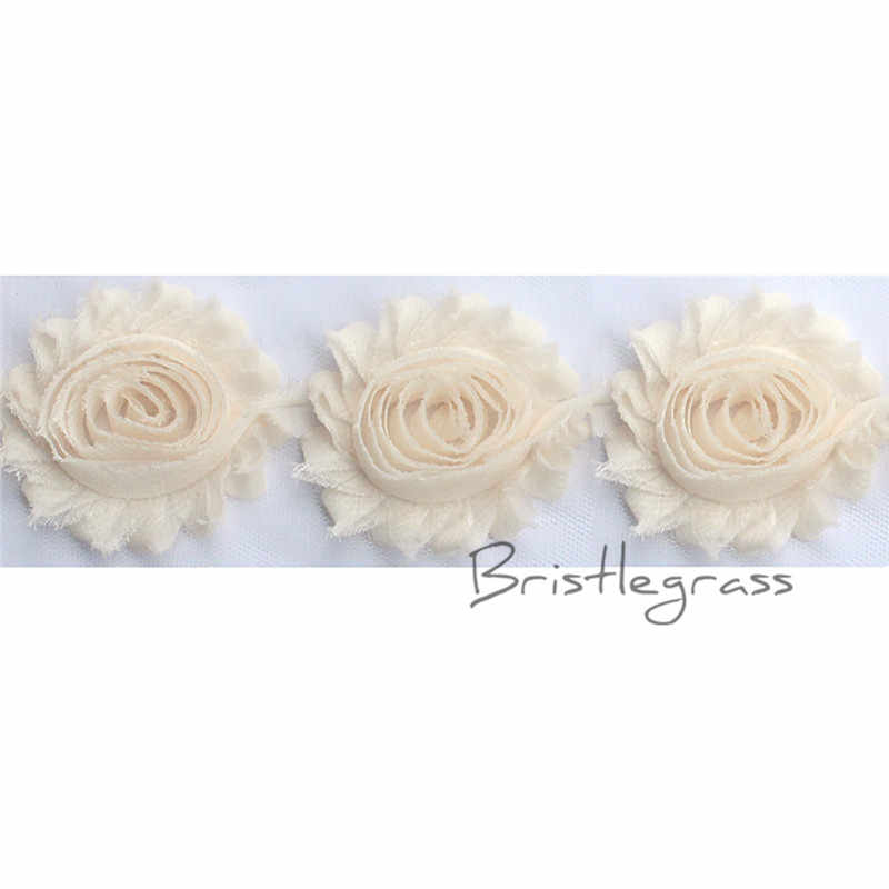 "BRISTLEGRASS 1 Yard 2.5 ""6 cm Kem Sờn Shabby Rose Hoa Hoa Hoa Hồng Lưới Ren Trim Kids Headband Tóc Tie Bridal Wedding Dress"