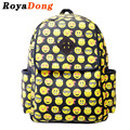 School Bags For Girls Teenagers Printing Backpack Women Canvas Emoji Graffiti Backpack Mochila Satchel Rucksack 2017 Sac A Dos