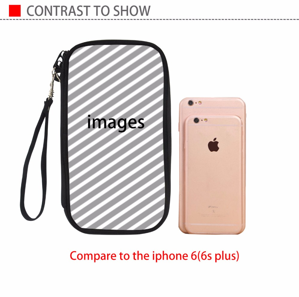 WHOSEPET Women Passport Holders African Printing Female Long Travel Wallet Money Phone Bag Portefeuille Durable Cards Holders