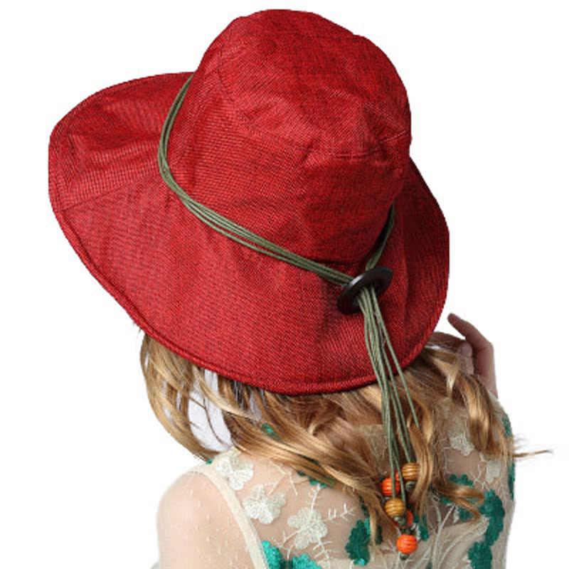 FS panie kapelusze lato plaża szerokie rondo składane kapelusze przeciwsłoneczne dla kobiet Floppy oddychające na zewnątrz czapka z daszkiem dziewczyna Sombrero Mujer