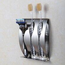 Self-adhesive позиция щеток настенное зубных крепление комнаты нержавеющая сталь box ванной