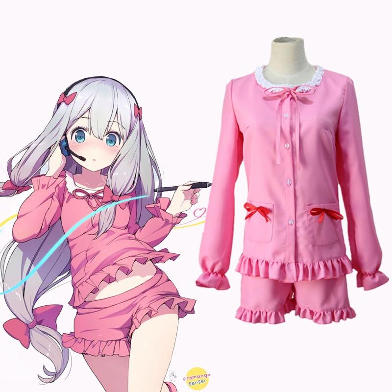 Sagiri Izumi косплей костюмы розовая пижама японское аниме Eromanga Sensei одежда костюмы для Хэллоуина