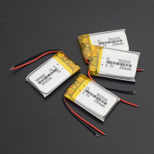 1pcs 3.7V 250mAH 502030 Polymer Lithium battery Polymer Lithium ion Battery 5