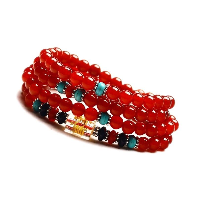 Իրական բնական կարմիր ագատ ապարանջան - Նուրբ զարդեր - Լուսանկար 3