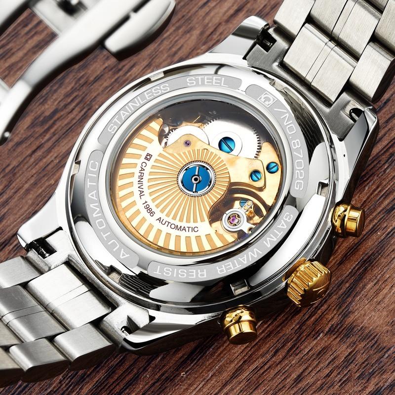2018 Lüks Karnaval Markası Kişi Saatı Avtomatik Mexanik Saatlar - Kişi saatları - Fotoqrafiya 4