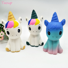 Taoup Cute Unicorn Squishy Slow Boost Birthday Party Decoration Favor Supplies Happy Decor for Kids Unicornio