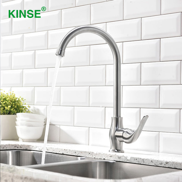 brushed nickel kitchen faucet wall mount kinse commercial stainless brushed nickel kitchen faucets single hole handle