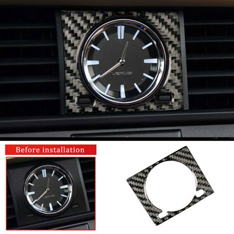 New Inner Clock Frame Trim For <font><b>Lexus</b></font> <font><b>RX200t</b></font> 450h 2016-2017-2018-2019 Car Parts Carbon Fiber Style Interior Accessories Mouldings image