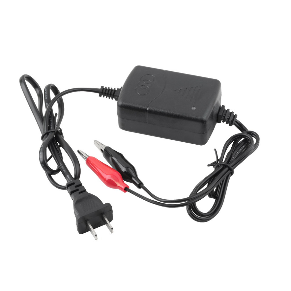 12 V Sealed Lead Acid Rechargeable car universal Battery usb Charger Black & Red Rechargeable Sealed Lead Battery Charger HOT #
