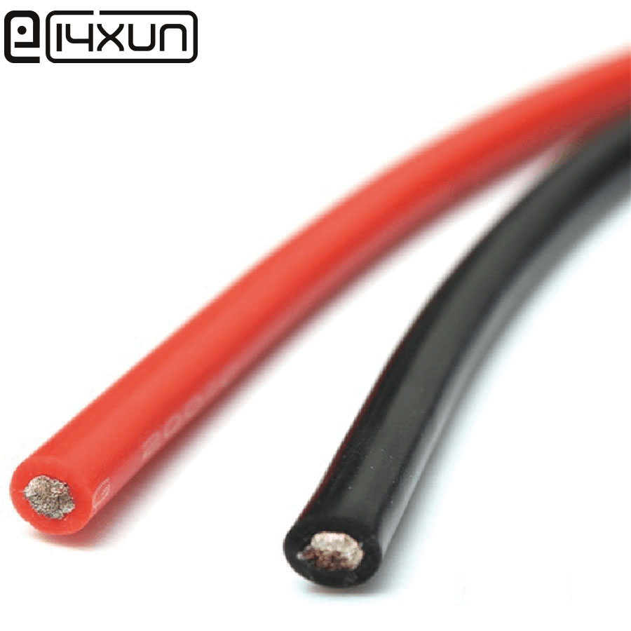 1m Silicone Wire 12AWG 14AWG 15AWG 16AWG 18AWG 20AWG 22AWG 26AWG 28AWG 30AWG Black Red Heatproof Soft Silicone Silica Gel Cable