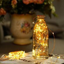 1 м 2 м медный провод светодиодный гирлянды праздничное освещение сказочная гирлянда для рождественской елки Свадебная вечеринка украшение праздник ребенок