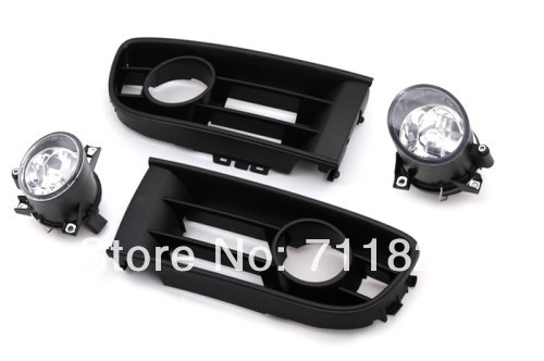 Front Fog Light Kit For VW Polo 9N free shipping new pair halogen front fog lamp fog light for vw t5 polo crafter transporter campmob 7h0941699b 7h0941700b