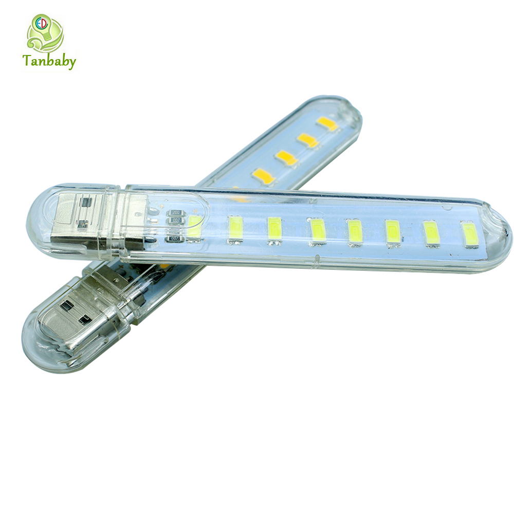 Tanbaby  8 Led 5730 SMD USB LED light Lamp Mini Night bulb Portable USB Book Reading Light Lamp For Notebook Laptop ...