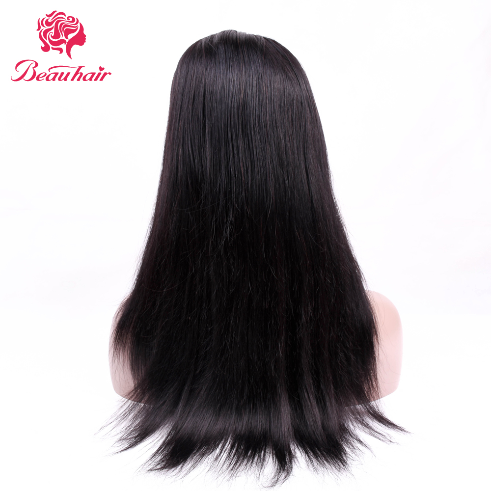 Beau Hair 16 inch human hair wigs natural color lace front human hair wigs Non-Remy Hair Extension free shipping