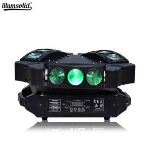 Image 1 - מיני עכביש אור 9x12w הזזת ראש Beam מסיבת אור Dmx512 Led דיסקו מנורת שלב אפקט תאורה