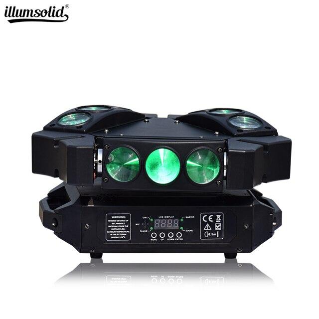 מיני עכביש אור 9x12w הזזת ראש Beam מסיבת אור Dmx512 Led דיסקו מנורת שלב אפקט תאורה