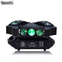 Mini örümcek ışık 9x12w hareketli kafa ışın parti ışığı Dmx512 Led disko lambası sahne aydınlatma etkisi