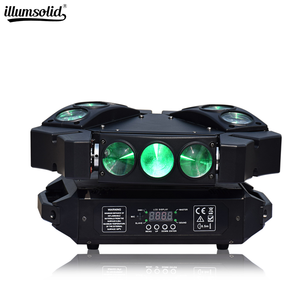Mini Spider Light 9x12w Moving Head Beam Party Light Dmx512 Led Disco Lamp Stage Lighting Effect
