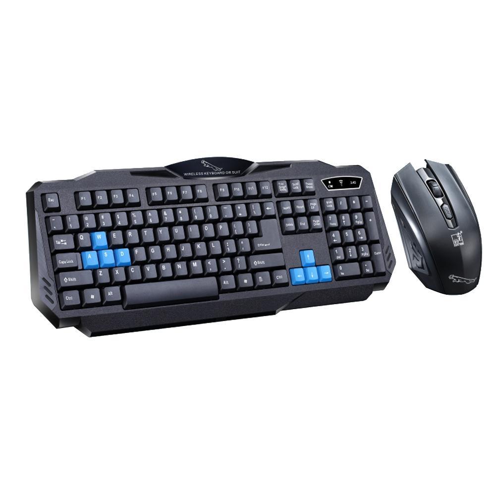 2 4ghz wireless gaming keyboard mouse combo set waterproof for Best home office wireless keyboard