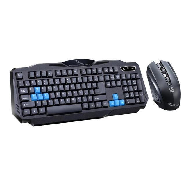 2.4Ghz Wireless Gaming Keyboard Mouse Combo Set Waterproof Keyboard and 1600DPI Pro Gaming Mouse For Computer PC