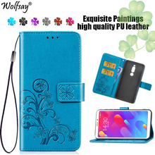 Cover Meizu M8 Case Lucky Flip Leather Wallet Case For Meizu M8 Lite Phone Bag Case For Meizu M8/V8 Pro Luxury Coque 5.7 inches