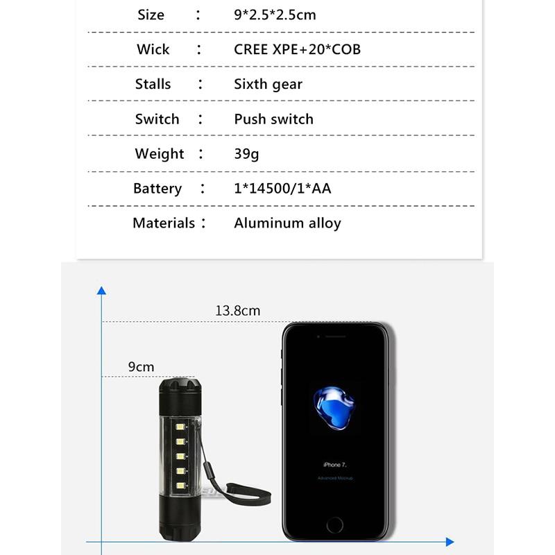 Светодиодный фонарик свет водонепроницаемый мини факел 360 градусов освещения 6 Режим CREE XML T6 Супер тактический фонарь кемпинг освещения 14500