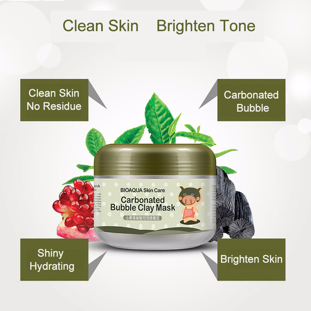 BIOAQUA Kawaii Black Pig Carbonated Bubble Clay Face Mask Facial Mask Cleaning Whitening Skin Moisturizing Anti Aging Skin Care 2