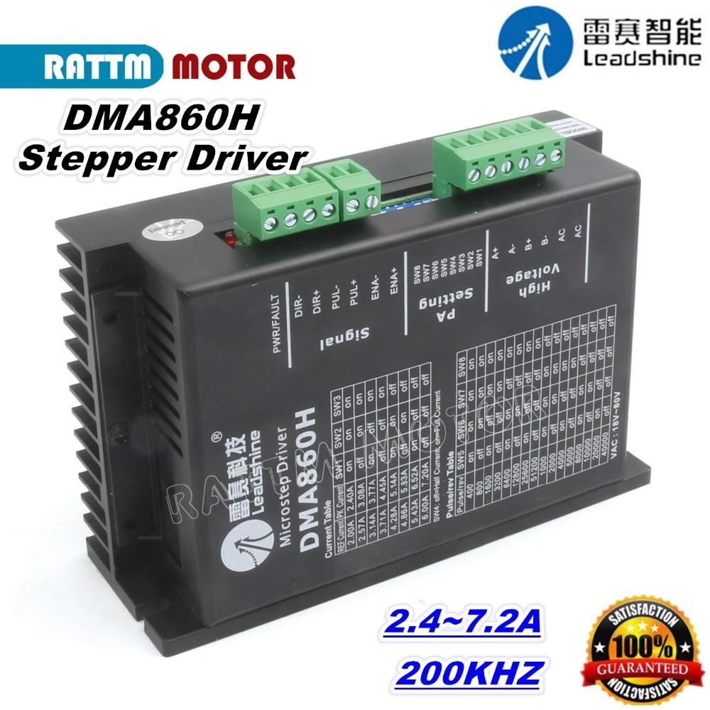 Leadshine DMA860H Stepper Motor Microstep Drive r 200KHZ 80V 7.2ALeadshine DMA860H Stepper Motor Microstep Drive r 200KHZ 80V 7.2A